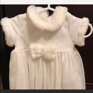 Other - Gorgeous baby winter white dress NWOT